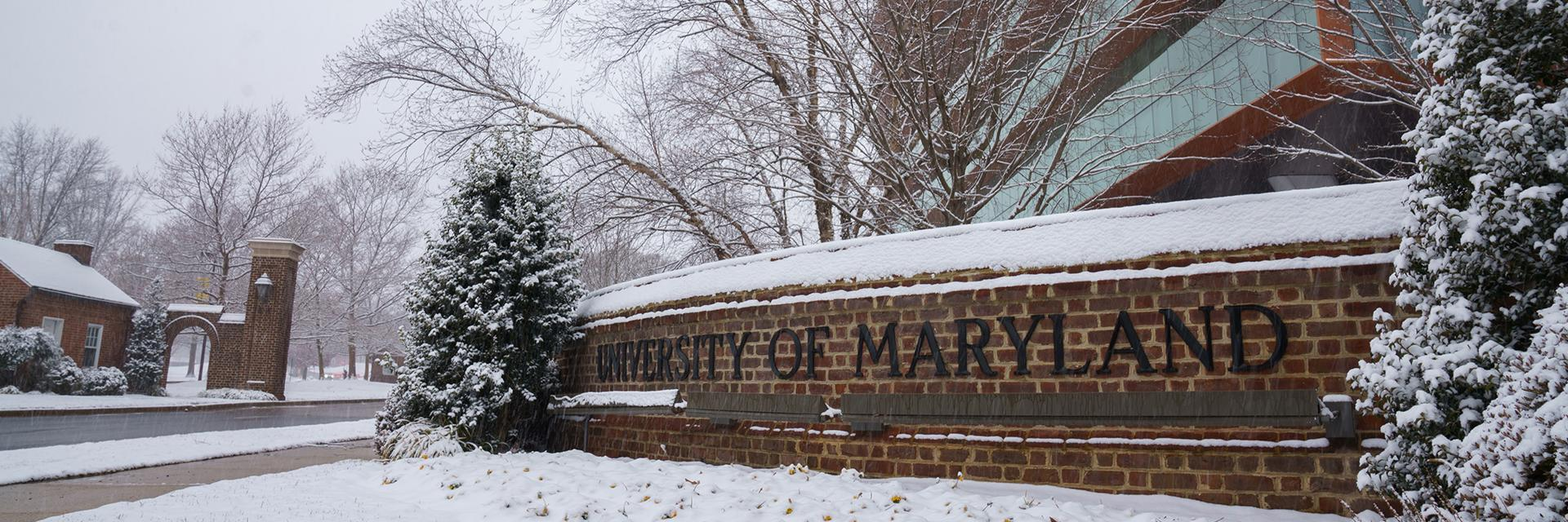 Campus Entrance in the Snow